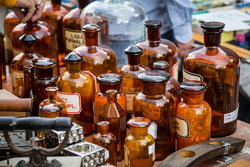 Antique bottles Bristol Flea Market