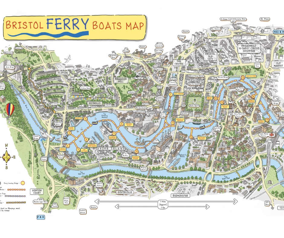Bristol Ferry Boats Map