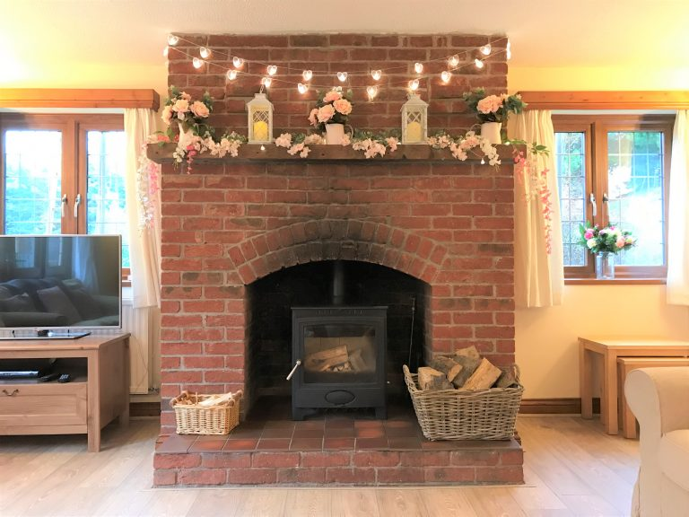 Self Catering with Log Burning Fire